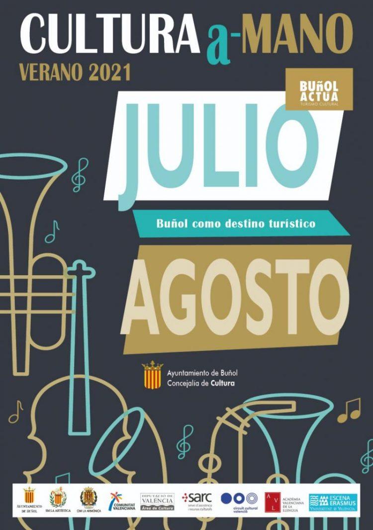 Cartel del verano cultural de Buñol